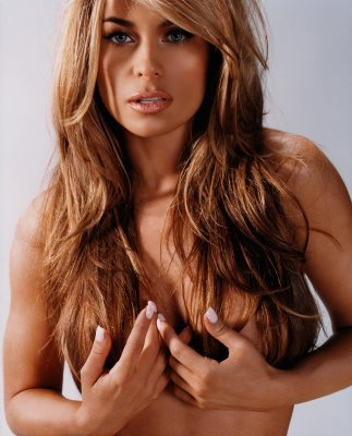 carmen electra hair and hand bra