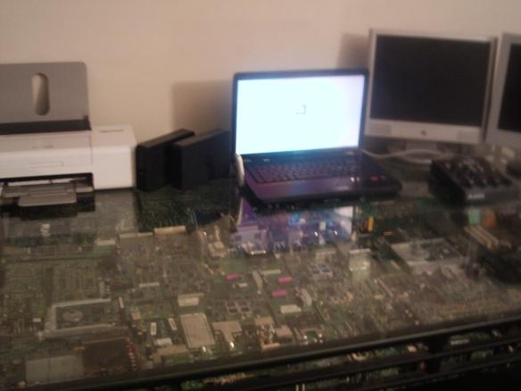 circuitboard cpu desk